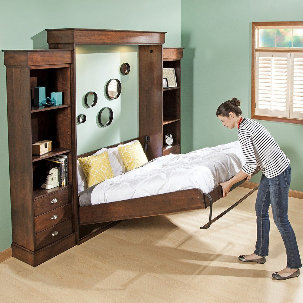 Electric Murphy Bed Amazoncom Full Size Deluxe Murphy Bed Kit Vertical Kitchen