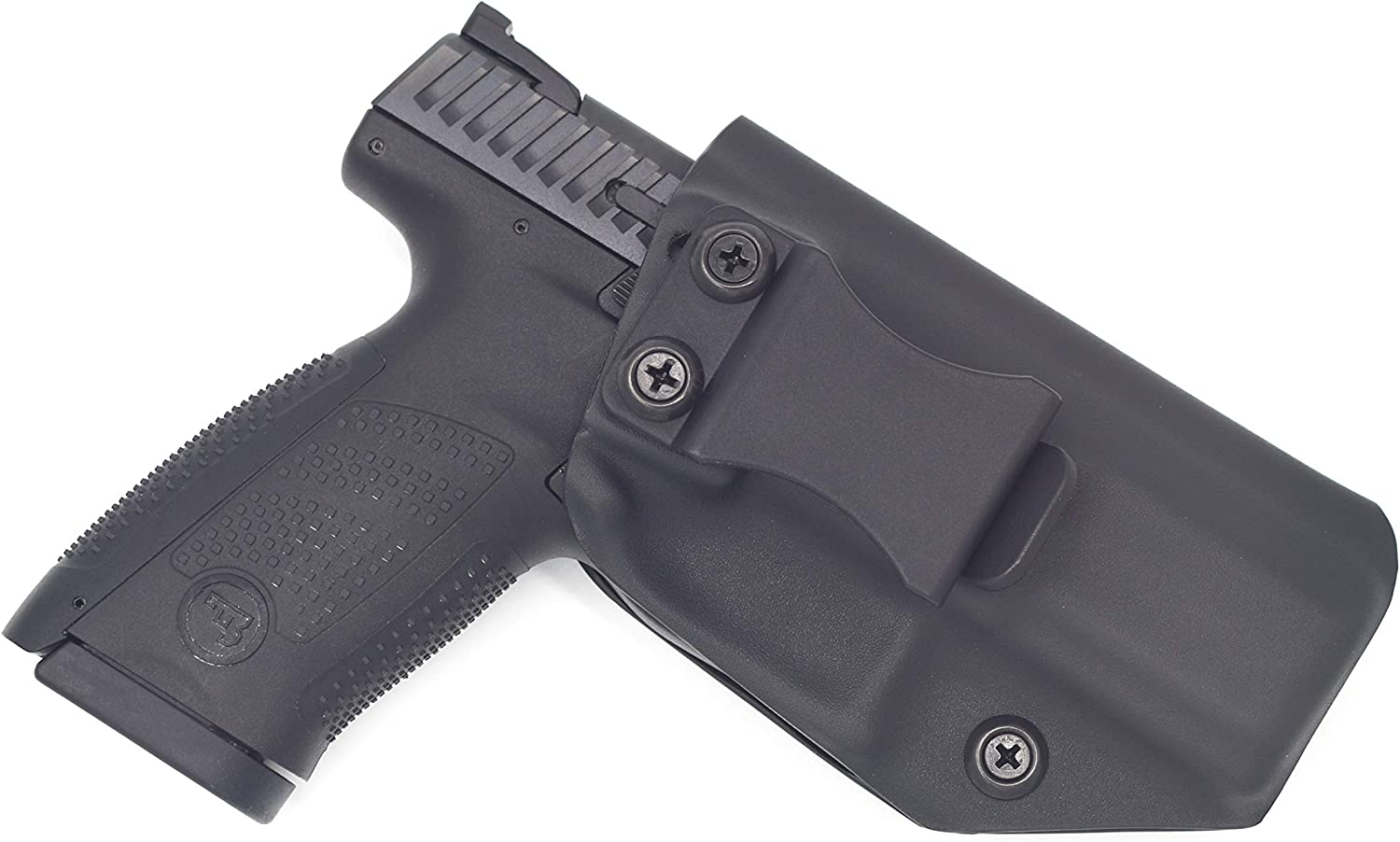 Black right handed leather gun holster for CZ-USA P-10 S