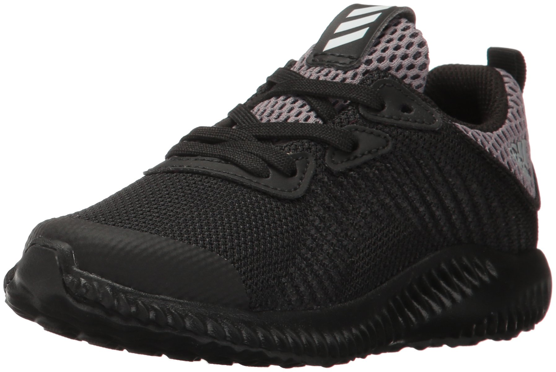 adidas Kids' Alphabounce Running Shoe, Black/White/Utility Black, 11 Medium US Little Kid