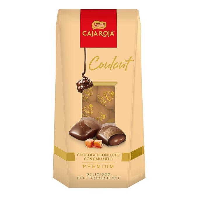 CAJA ROJA Bombones Coulant chocolate con leche caramelo 142g