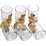 DreaMkraft 6 Glass Set Handcrafted for Gift and Decoration Purpose