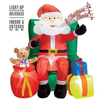 WIDMANN ? Papá Noel hinchable: Amazon.es: Juguetes y juegos