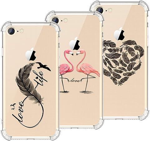 KOTPARX Cover per iPhone 7 / iPhone 8 Custodia Silicone Gel TPU Trasparente con Disegni Morbida Ultra Sottile Slim Antiurto Protettiva Case Cover - ...