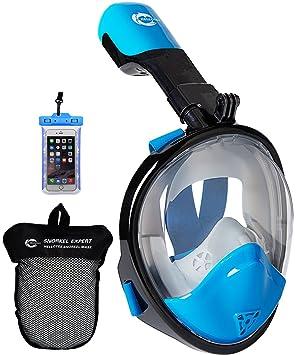 HELLOYEE Panorámica Máscara de Buceo Compatible con La Cámara de GoPro para Adultos y Jóvenes,