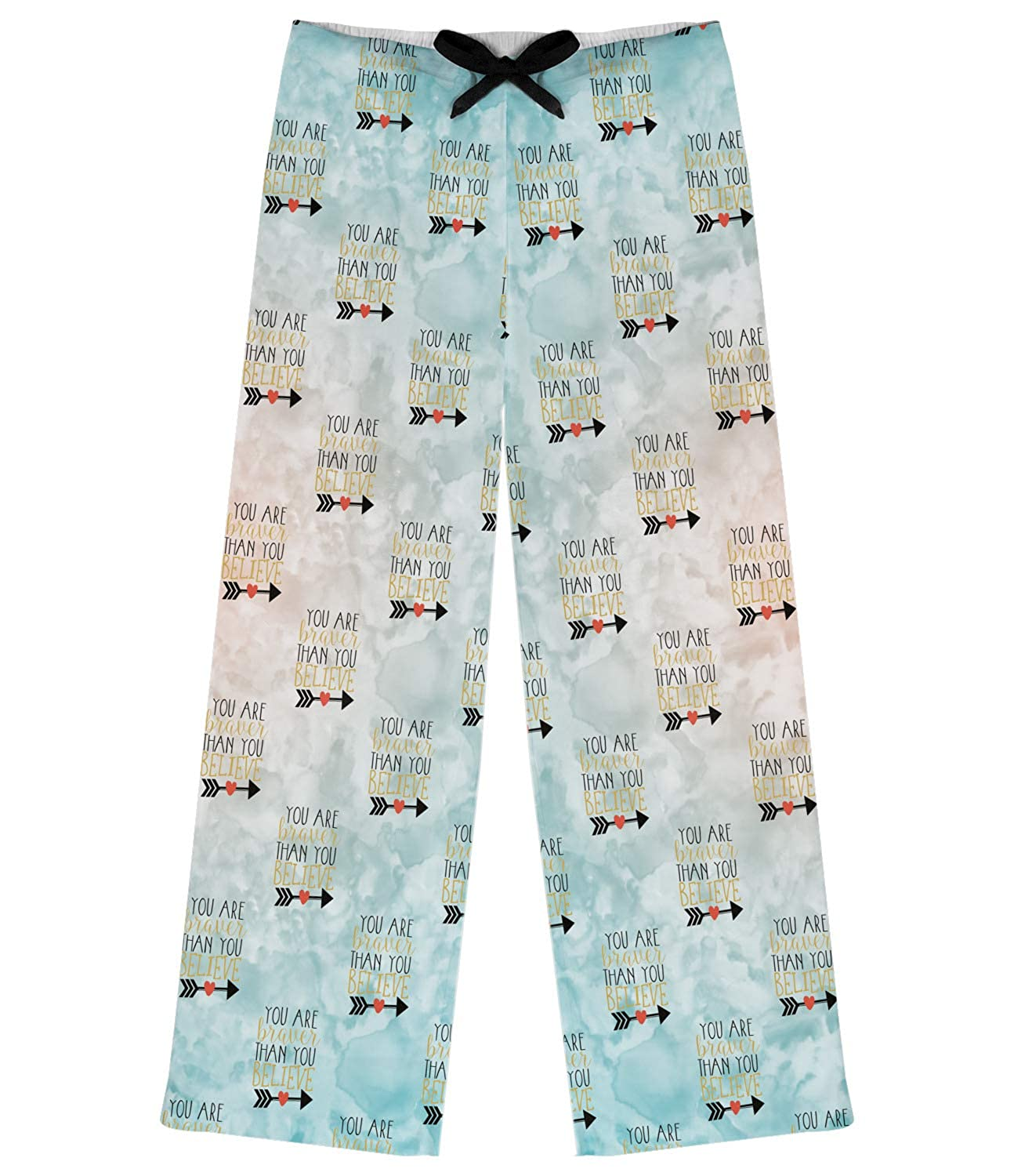 Blue XL RNK Shops Inspirational Quotes Womens Pajama Pants Personalized