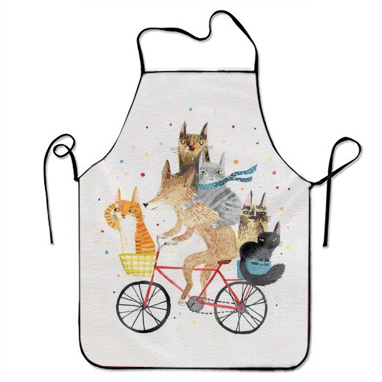 JONHBKD 羊のスタイリスト ビブエプロン 大人 女性 ユニセックス 丈夫 快適 洗える 料理 ベーキング キッチン レストラン Onesize yh_009_2285904  Dogs and Cats5 B07H58LCZF