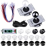 Arcade Game Kits, Quimat 2 player Zero Delay Arcade Game DIY Kits USB Encoder Way Joystick Push Button for Mame Jamma & Other Fighting Games (QR03)