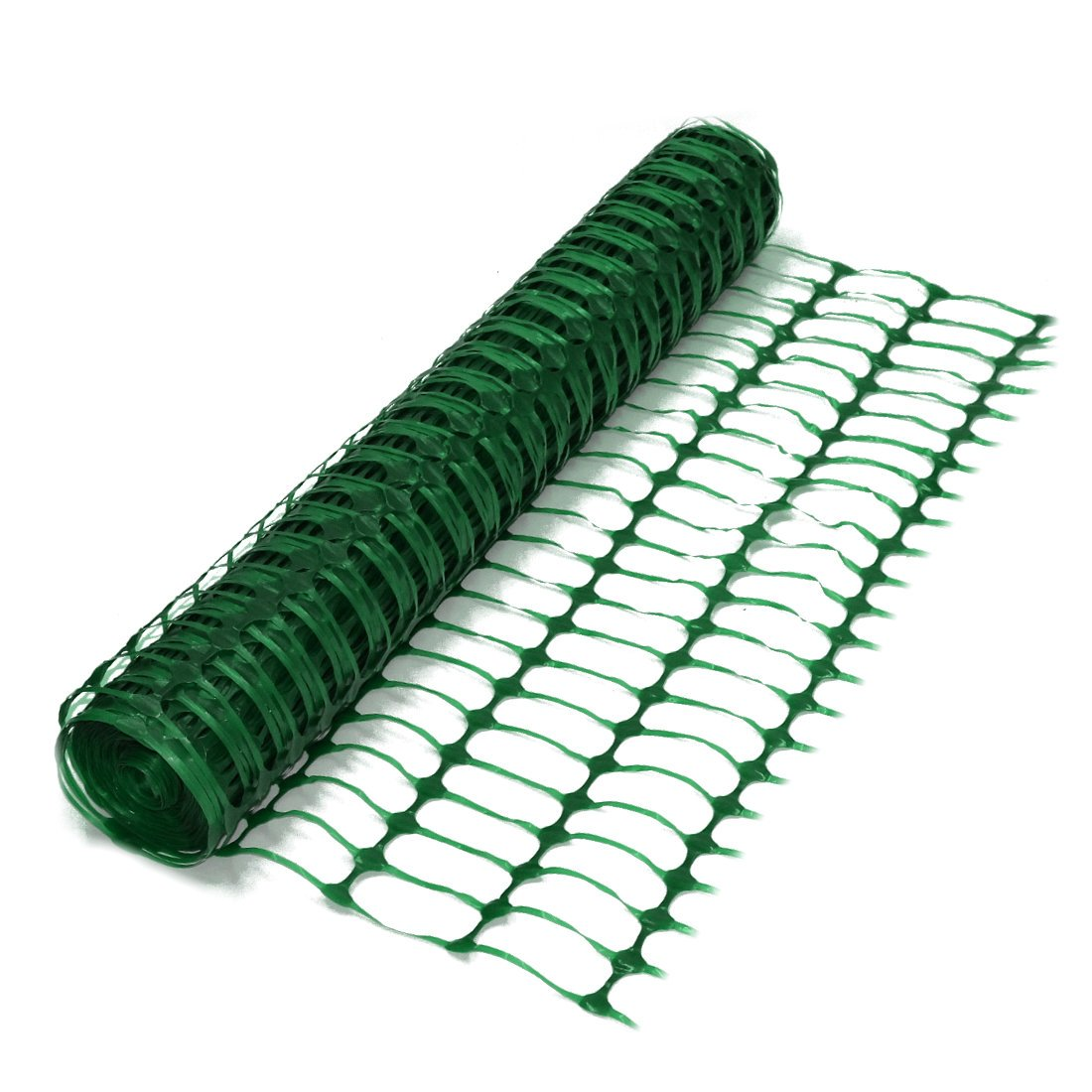 Green Plastic Barrier Mesh Fencing Netting 4kg - 1m x 50m Roll True Products