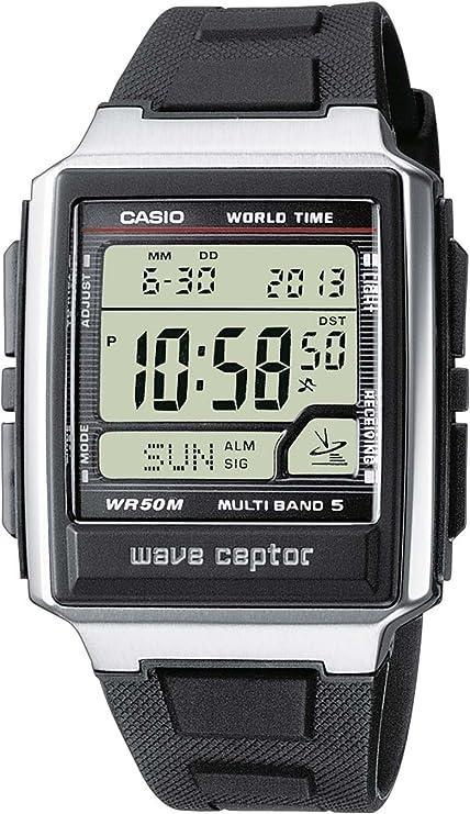 Casio WAVE CEPTOR Reloj Radiocontrolado, Negro, para Hombre, con Correa de Resina, WV-59E-1AVEF