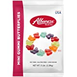 Albanese Candy Mini Gummi Butterflies (1) 5 Pound Bag, Gummi Candy, Assorted Flavors, Gluten Free, Dairy Free, Fat Free, Low Calorie
