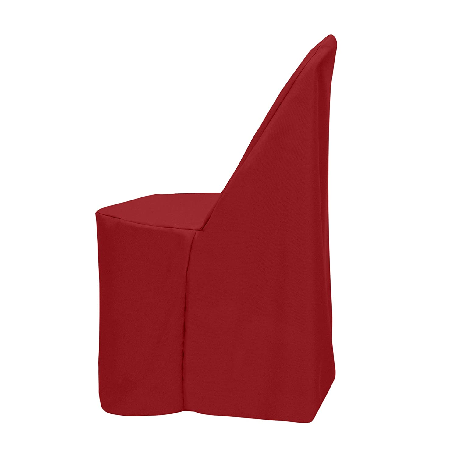 Ultimate Textile -10 Pack- Polyester Folding Chair Cover – Fits Metal or Plastic Folding Chairs, Cherry Red
