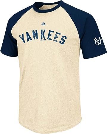 Majestic Babe Ruth New York Yankees Cooperstown All Star Player Raglan Premium T-Shirt Camisa