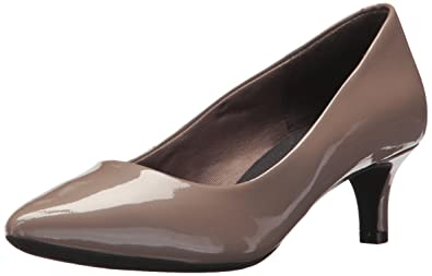 Rockport Women's Total Motion Kalila Pump, Taupe Grey Pearl Patent, ...