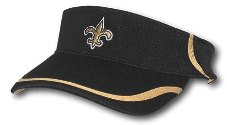 4227e127045 Amazon.com   Fan Apparel New Orleans Saints Black Adjustable Visor ...