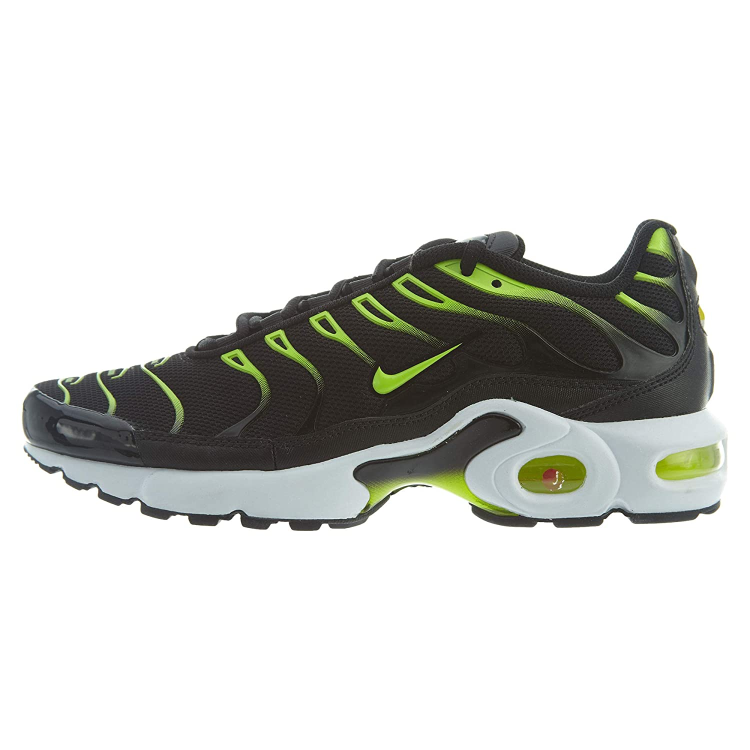 Perfect Nike Air Max Plus Tn Tuned Black Volt 655020 070 Sneakers Men's Sport Running Shoes