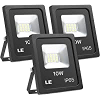 3-Pack Lighting EVER LE 10W Super Bright Outdoor LED Flood Lights
