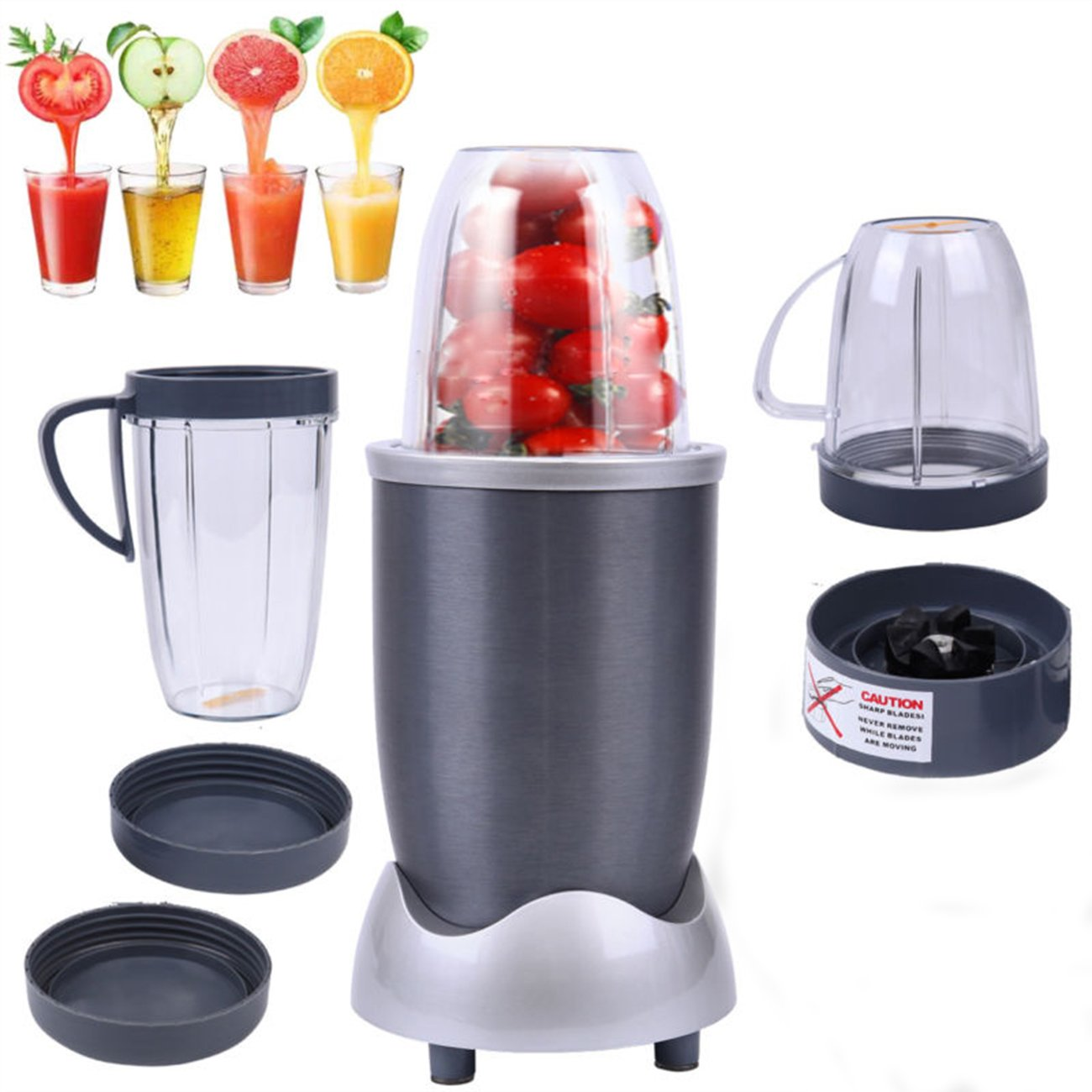 Ridgeyard 600w Portable Fruit Food Blender Electrical Kitchen Food Extractor Mixer Juicer Smoothies Maker Food Fruit Processor