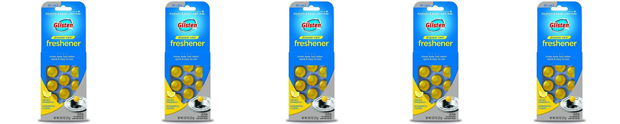 Glisten Disposer Care Freshener, Lemon Scent, 10 Use - 5 Pack