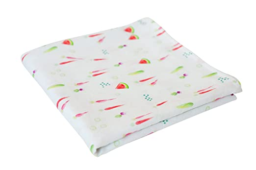 Amazon.com: Warm, Soft, Comfortable Swaddle Baby Blanket for Sensitive Skin (Fresh Produce): Baby