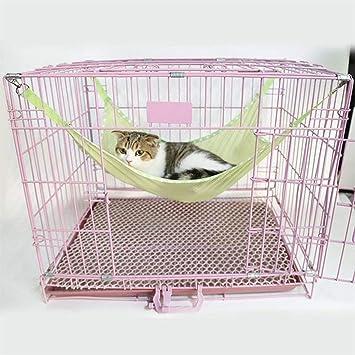 MARCU Home Estera para Cama de Gato para ventilación de Verano Tela Neta Jaulas de Mascotas Hamaca Debajo de la Silla L Verde para Gato/Perro: Amazon.es: ...