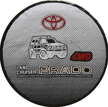 Estilo de coches 16 pulgadas PVC - Rueda de repuesto para cubierta para rueda de repuesto para Toyota Land Cruiser Prado FJ120 FJ150 fj80 FJ100: Amazon.es: ...