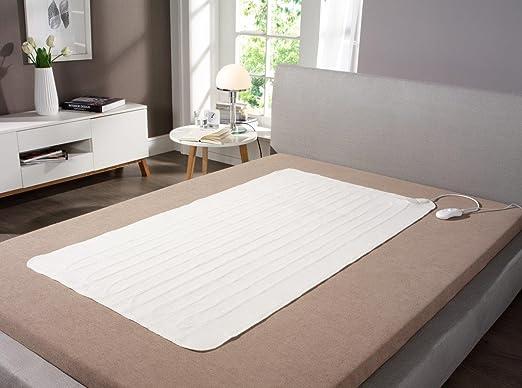 Dormir bien Med® Manta eléctrica I XL Tamaño 150 x 80 cm I para colchones de hasta 200 x 90 - 100 cm I térmica techo I 2 niveles de temperatura I ...