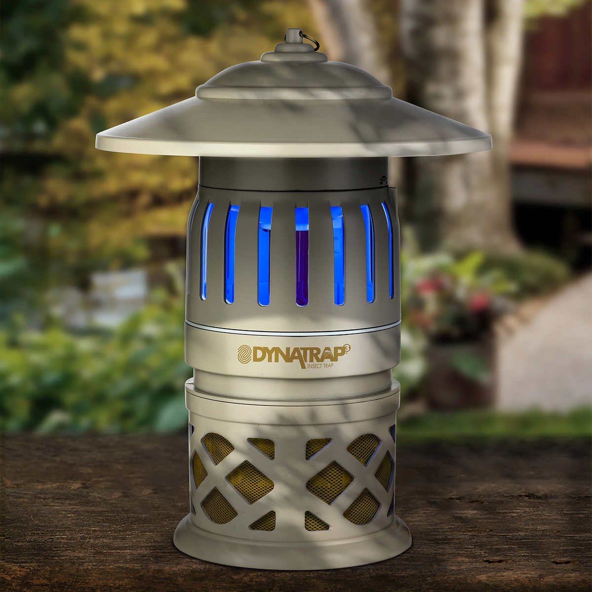 DynaTrap 3-Way Protection, Twist On/Off Insect Trap, 1/2 Acre Coverage