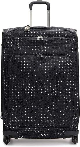 Kipling Youri Softisde Spinner Wheel Luggage, Tile Print, Checked-Large 31-Inch