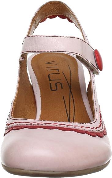 Virus Moda 920179 - Zapatos de tacón de Cuero para Mujer, Color Multicolor, Talla 39: Amazon.es: Zapatos y complementos