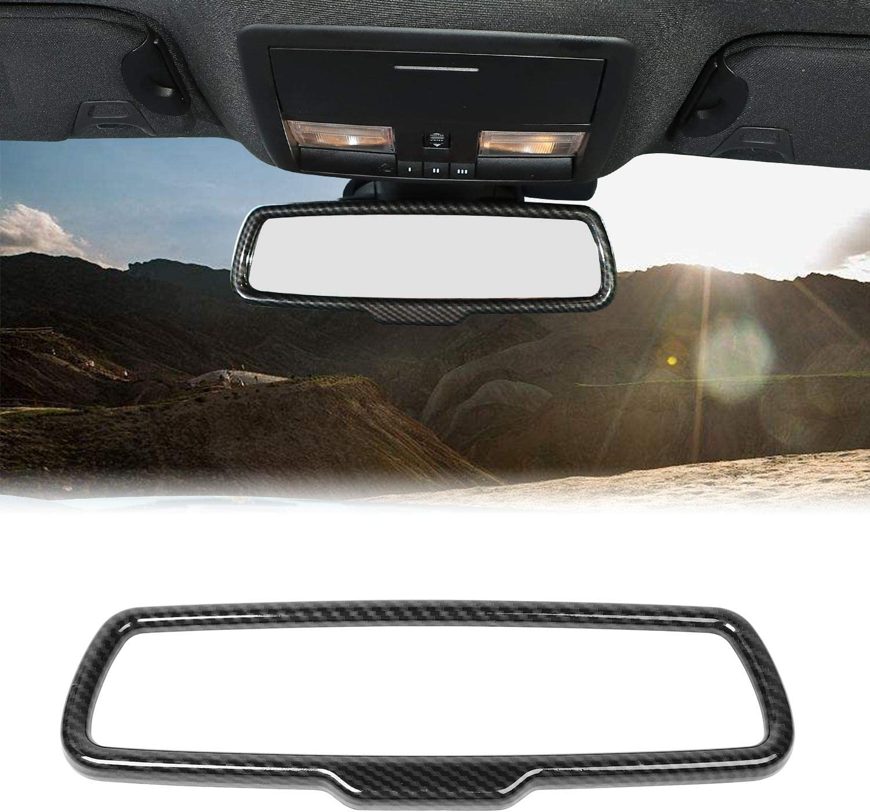 Crosselec Carbon Fiber Rearview Mirror Frame Cover Trim For Dodge Challenger 2015+