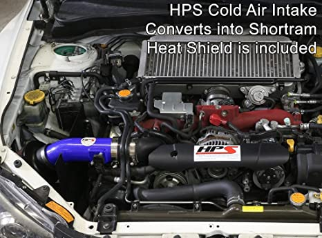 Amazon.com: HPS Blue Cold Air Intake Kit CAI Long Ram for 08-14 Subaru WRX 2.5L Turbo: Automotive
