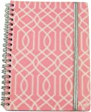 """Carolina Pad Studio C College Ruled Poly Cover Spiral Notebook with Elastic Closure ~ Pattern Play (Pink and White Maze; 5"""" x 7""""; 80 Sheets, 160 Pages)"""