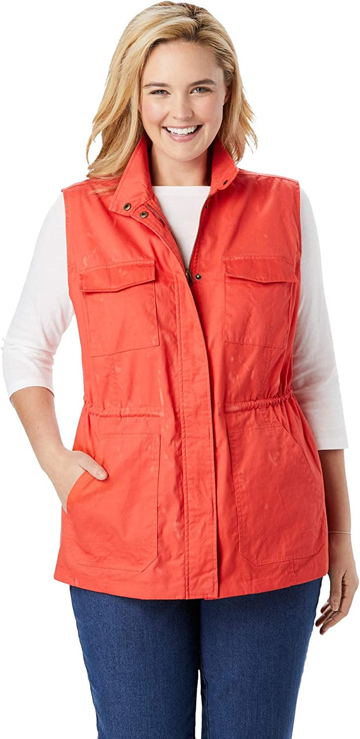Woman Within Womens Plus Size Utility Vest