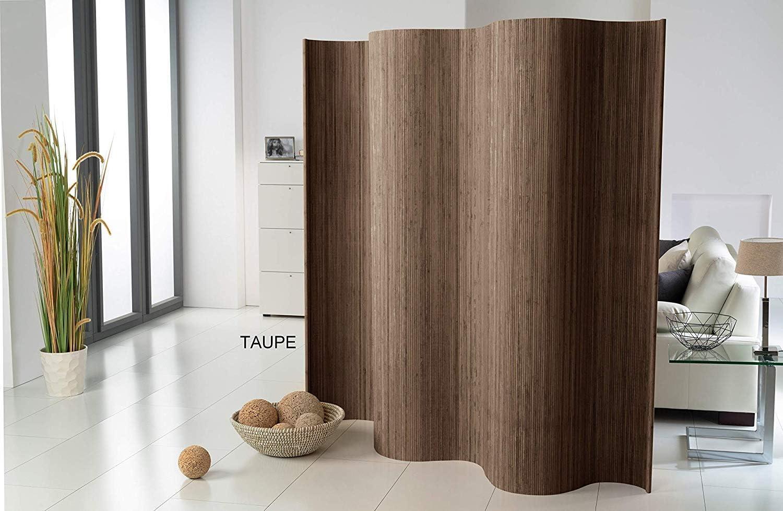 Doppelseitiger Bambus Paravent Raumteiler Trennwand Sichtschutzin 2 Farben