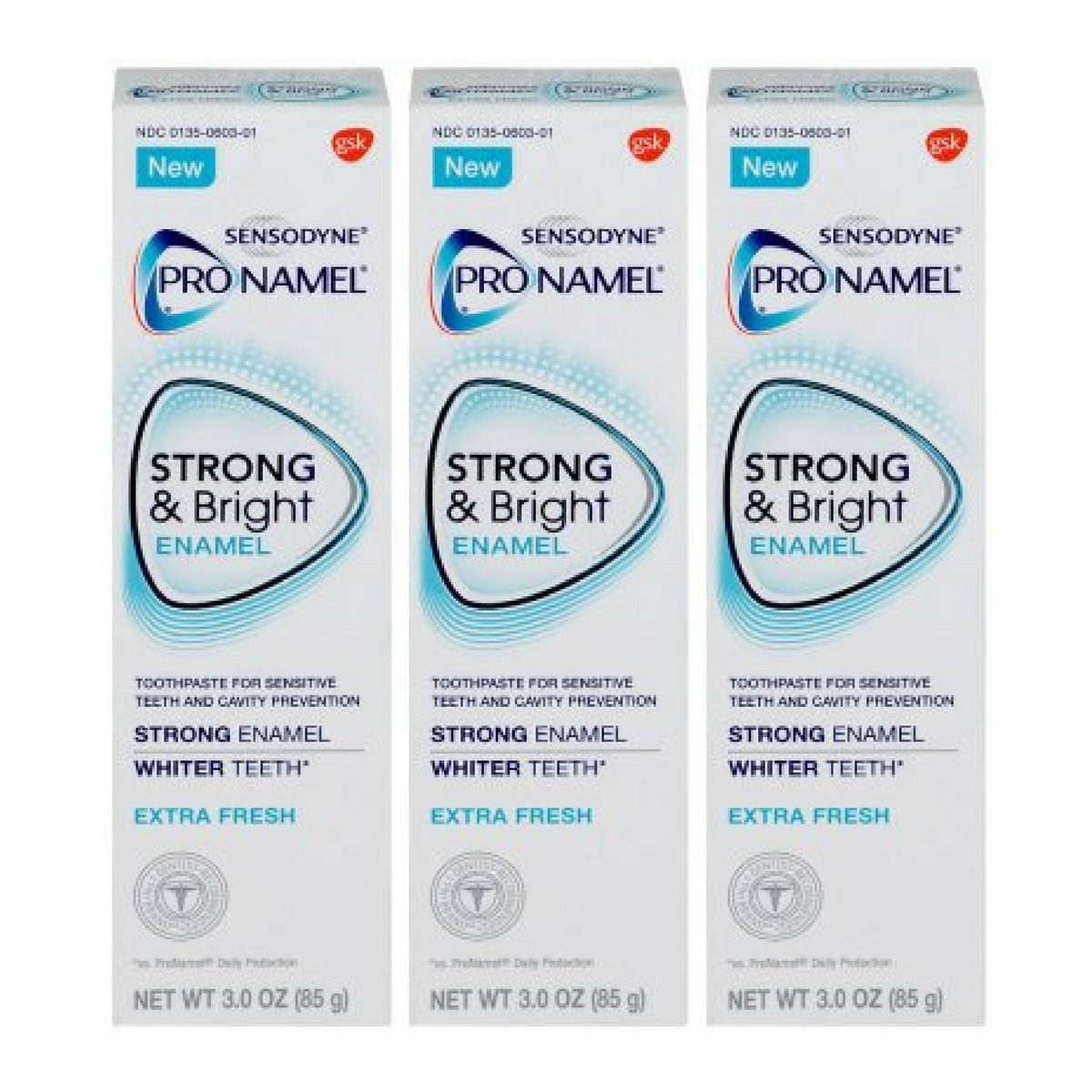Pronamel Strong & Bright, Whitening Enamel Toothpaste, Extra Fresh, 3 ounce - 3 Pack