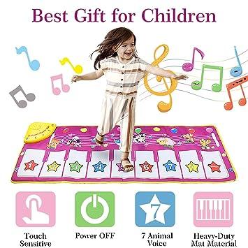 Aivatoba Musikmatte Spielzeug Maedchen 1 Jahr 2 34 Jahreklaviertastatur Tanzmatte Kinder Geschenke Fuer Babys Kleinkind Jungen Und Mädchen 39