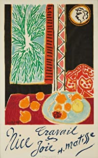 product image for Nice, Travail and Joie (artist: Matisse) France c. 1947, Vintage Advertisement 61078 (12x18 SIGNED Print Master Art Print, Wall Decor Poster)