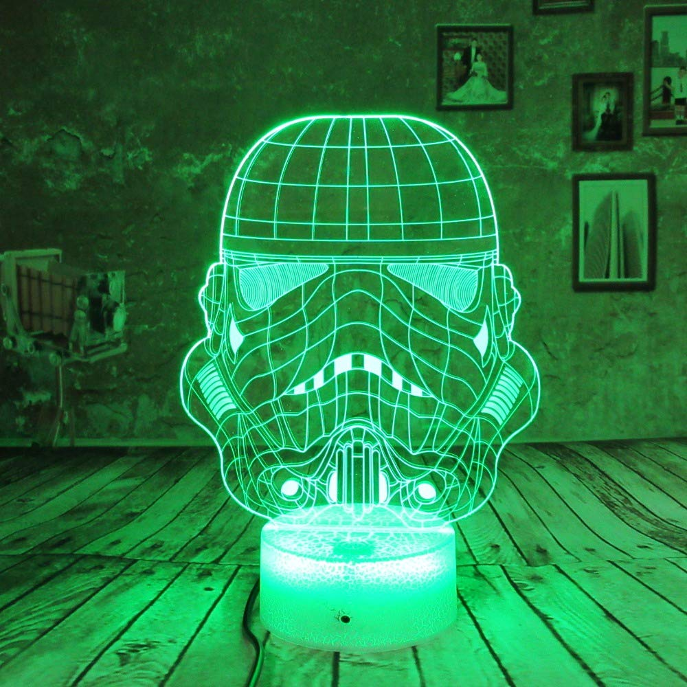 3D Illusion Lamp Super Hero Led Remote Control Night Light 7 Color Remote Touch Kids Light Toys Birthday Gifts Bedroom Desk Table WGWNYN