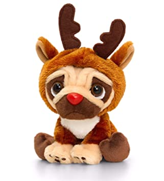 Pozostałe Pluszaki Pugsley Christmas Outfit Plush Soft Toy Children Keel 14cm