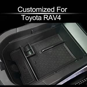 Compatible with fit for 2019 2020 Toyota RAV4 Center Console Organizer Armrest Secondary Storage Box Holder Container Divider Glove Pallet Tray