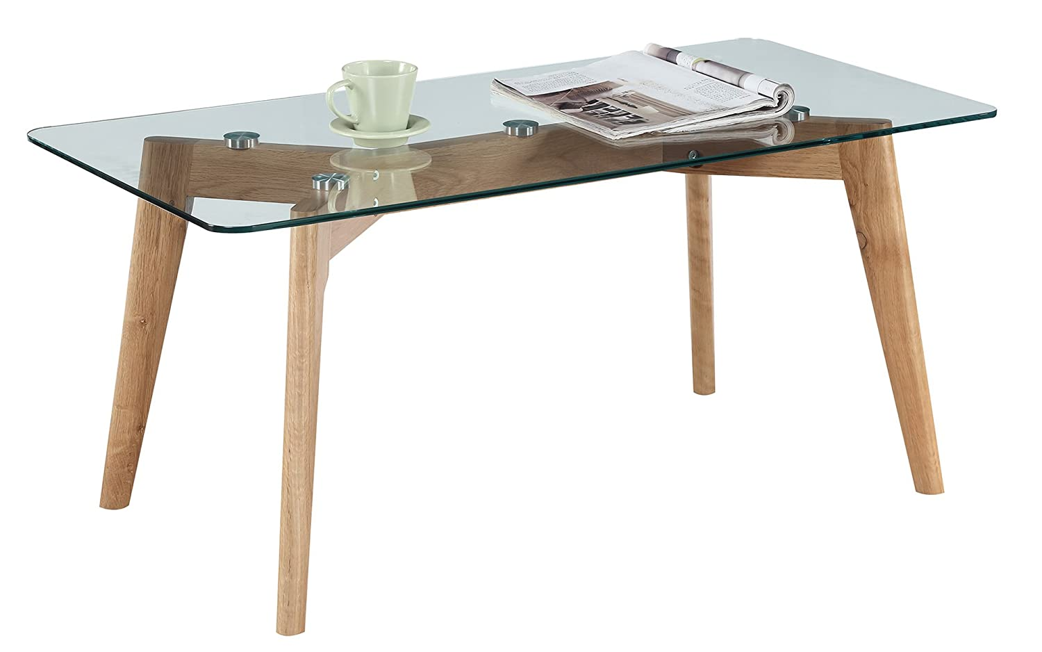 Convenience Concepts Clearview Coffee Table, Natural Glass