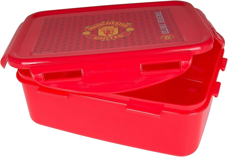 th/ème football Bo/îte /à d/éjeuner//sandwich Manchester United FC officiel pour enfant