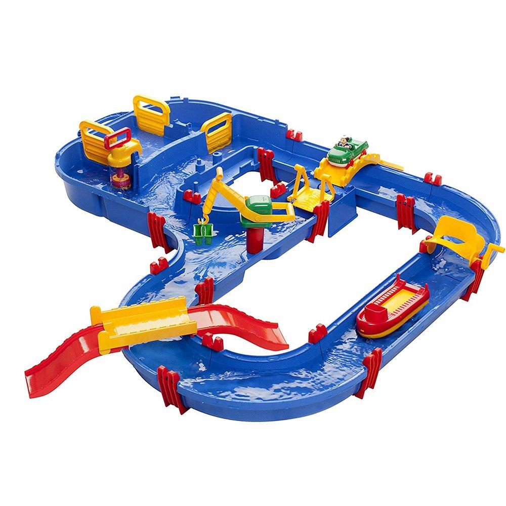Aquaplay 8700001528 - Wasserbahn Set Megabridge, 32-teilig