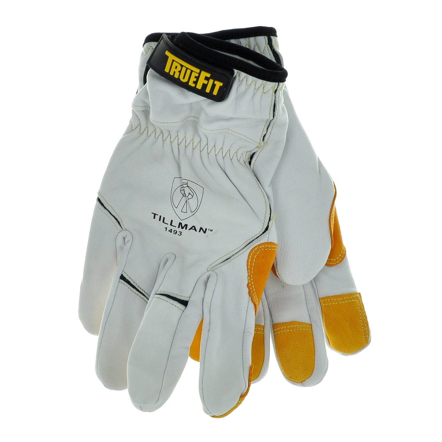 Tillman leather work gloves - Tillman 1493 Super Premium True Fit Top Grain Goatskin Kevlar Gloves Amazon Com
