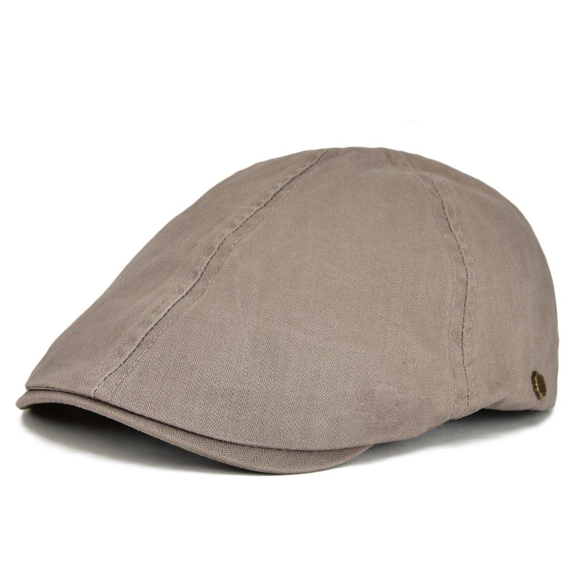 VOBOOM Ivy Caps Herringbone Cotton Flat caps Light Weight Newsboy Caps Cabbie Hat BDMZ137-Blk