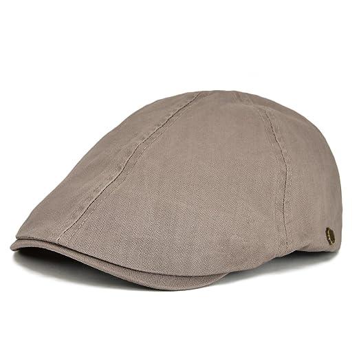 54a855e0bc4 VOBOOM Ivy caps Herringbone Cotton Flat caps Light Newsboy caps Cabbie hat  (Gray)