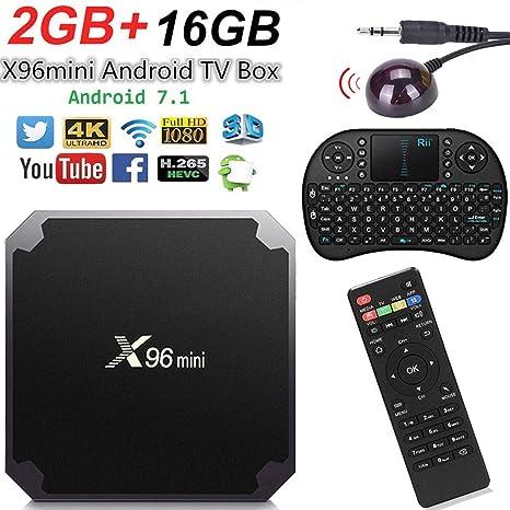 Smart TV Box Android X96 Mini 4K Android (2GB+16GB+Teclado Rii8+