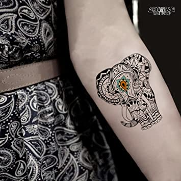 Artist Temporary Tattoo Water Transfert Origami Elephant