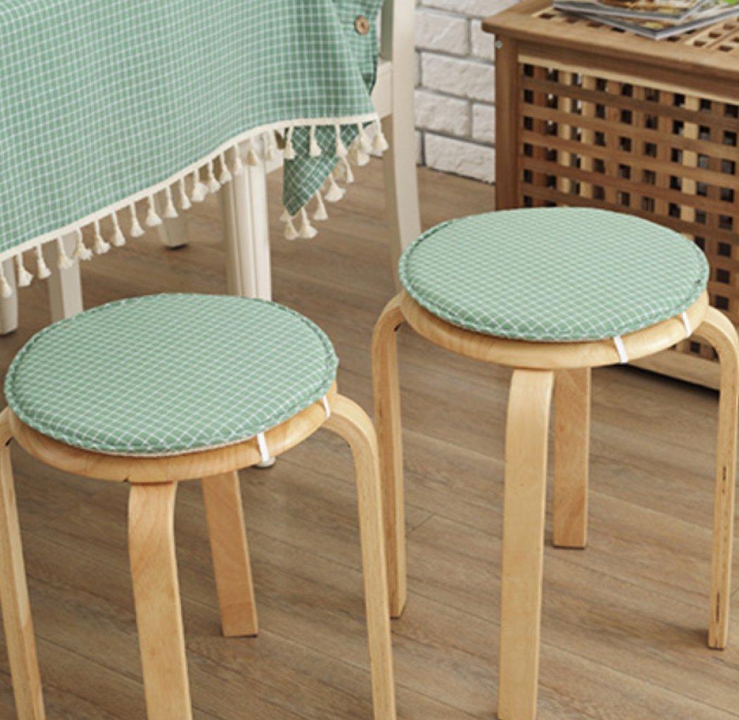 AZHUCHANGJIANG Color sólido Espesor Circular Interior/Exterior Cojines Modernos Estilo Rural, Almohadillas para sillas, Almohadillas para sillas de Ruedas, ...