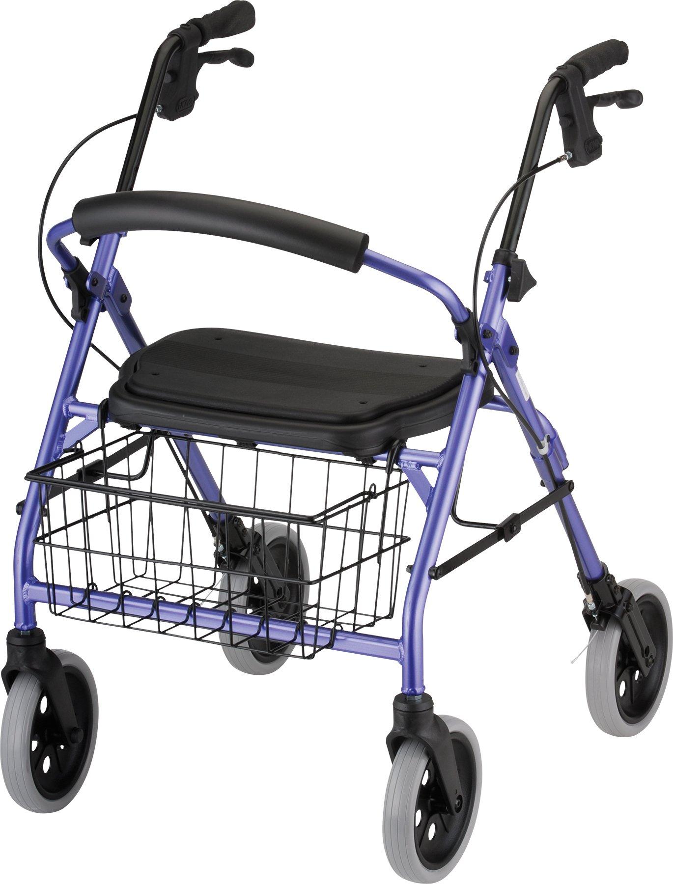 NOVA Medical Products Cruiser Deluxe Walker, Purple